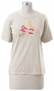 3 Dragonflies on Ladies Short Sleeve Tee