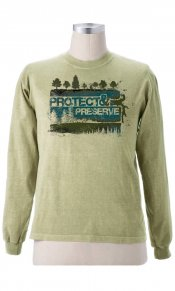 Protect and Preserve (Trees) on Organic L/S Tee