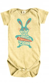 Eco Bunny on Hemp Snappie