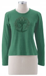 New Tree Pose on Long Sleeve Top