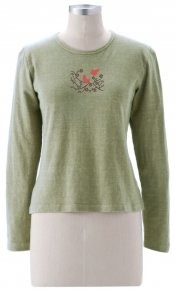 Cherry Blossom on Long Sleeve Top