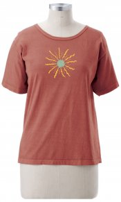Sunburst on Ladies Short Sleeve Tee