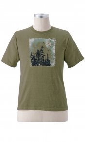Compass Forest on Organic Tee