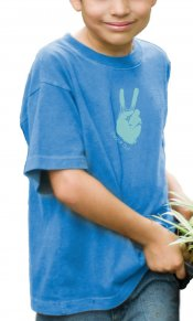 Peace Out on Toddler/Youth Organic Tee