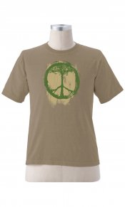 Peace Symbol (Tree) on Organic Tee