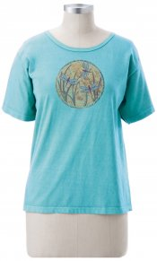 Dragonfly Globe on Ladies Short Sleeve Tee
