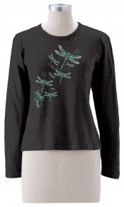 Happy Dragonflies on Long Sleeve Top