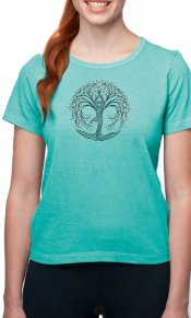 New Tree Pose on Organic Cotton Ladies Tee