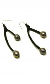 Lilly Beck Black Pearl Earrings