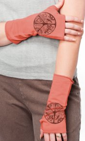 Party Peace on Yummy Fingerless Glove