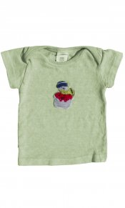 Snowman Applique on Infant Lap T