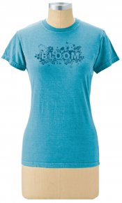 Bloom Again on Ladies Organic Tee