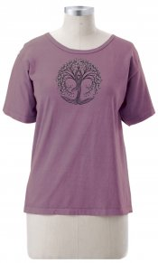 New Tree Pose on Ladies Short Sleeve Tee