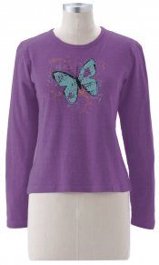Moth on Long Sleeve Top