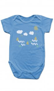 Sea Fun on Organic Cotton Snappie