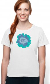 Namaste on Organic Cotton Ladies Tee