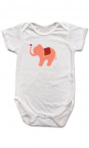Elephant Heart on Organic Cotton Snappie