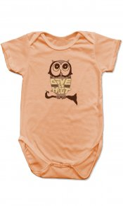 Eco Owl on Organic Cotton Snappie
