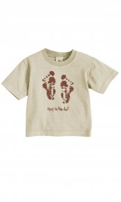 Alek's Feet on Infant Organic Tee