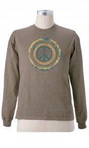 Tie Dye Peace on Organic L/S Tee