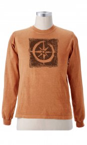 Big Compass on Organic L/S Tee