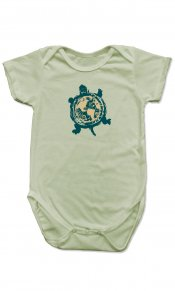 Turtle Earth on Organic Cotton Snappie