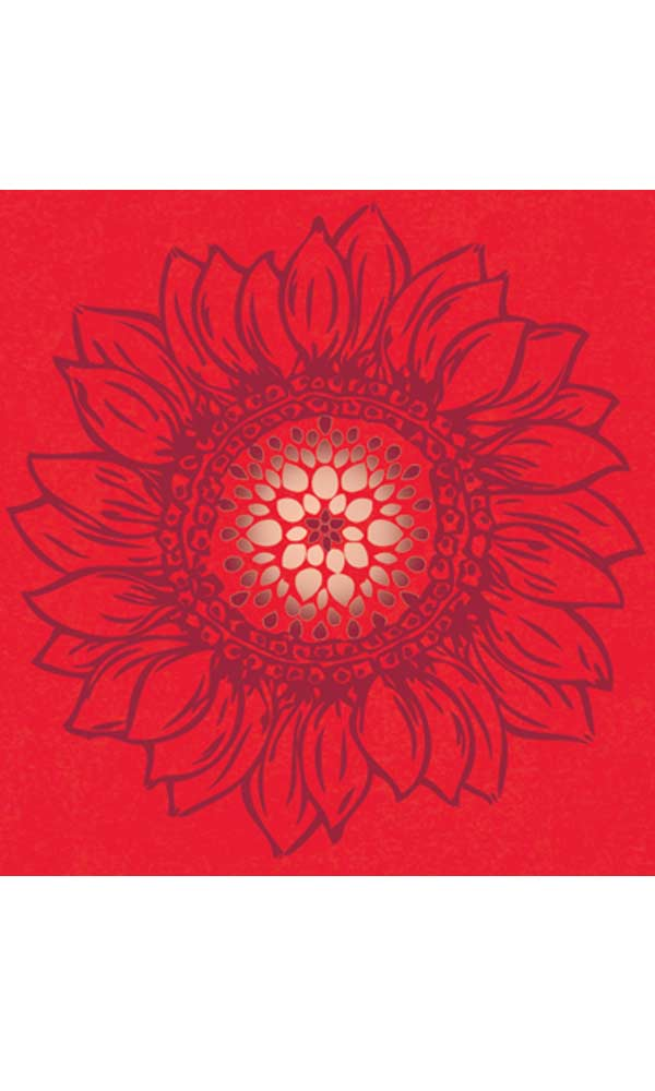 Sunflower Mandala on Better Than Before Scoop