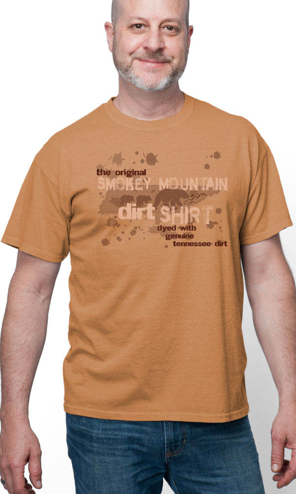 Smoky Mountain Dirt Map on Cotton Tee