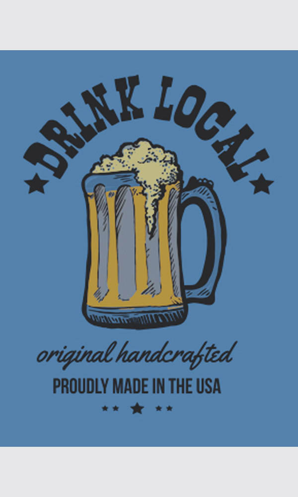 Drink Local on Organic Tee