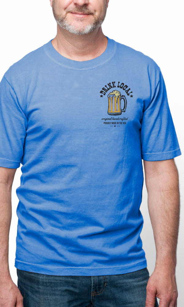 Drink Local on USA Made Men's Tee