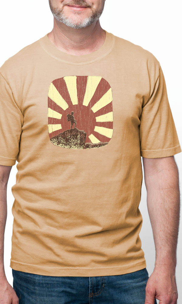 Hiker Mountain on USA Made Men's Tee