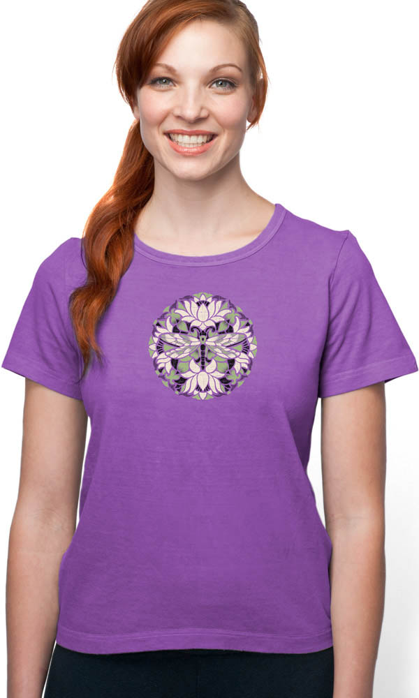 Batik Dragonfly on Organic Cotton Ladies Tee