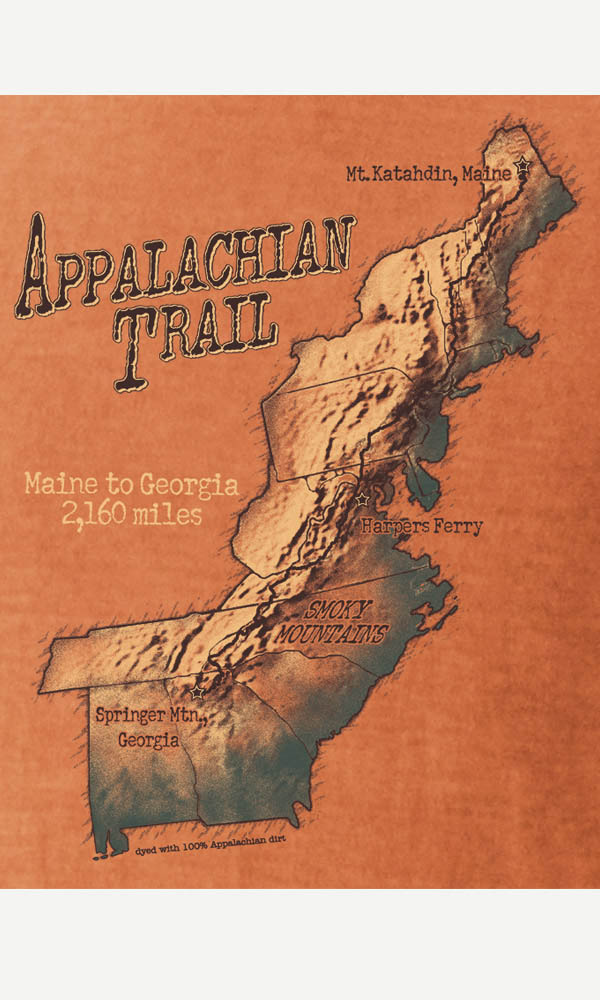 Appalachian Trail Map on Ladies Contour Tee