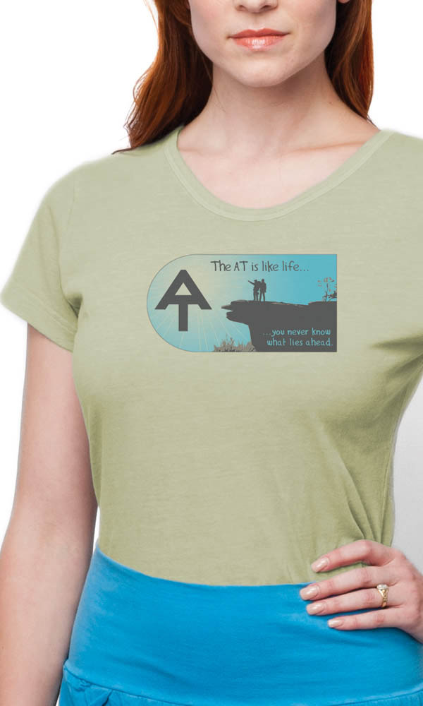 AT McAfee Knob on Ladies Contour Tee