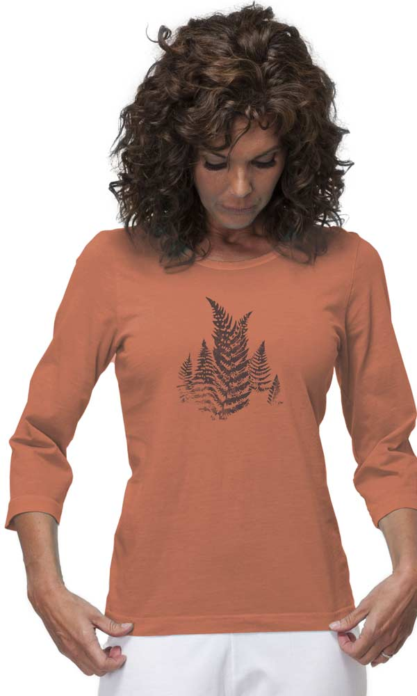 Fern Time on 3/4th Sleeve Ladies Tee