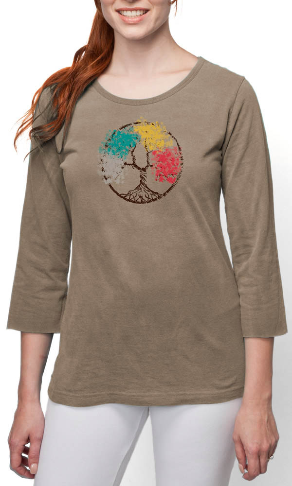 Four Seasons on 3/4th Sleeve Ladies Tee