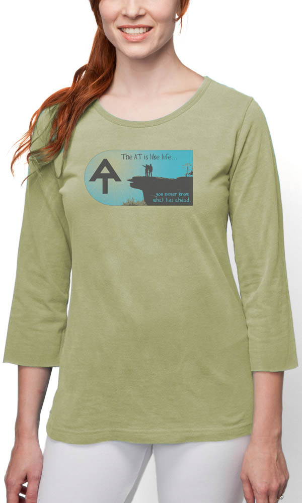 AT McAfee Knob on 3/4th Sleeve Ladies Tee