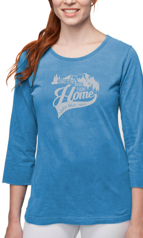AT Going to the Woods on 3/4th Sleeve Ladies Tee