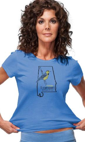 Alabama Bird on Ladies Tee