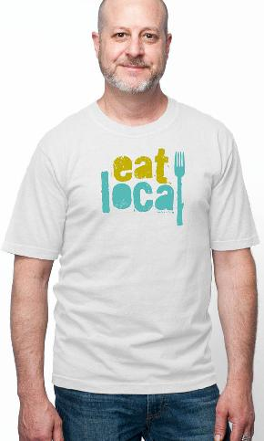 Eat Local Again on USA Made Men's Tee
