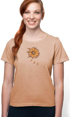 Sunflower on Organic Cotton Ladies Tee