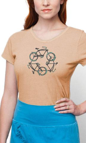 ReCycle on Ladies Contour Tee
