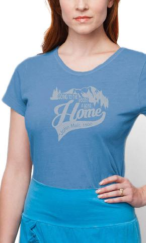 AT Going to the Woods on Ladies Contour Tee
