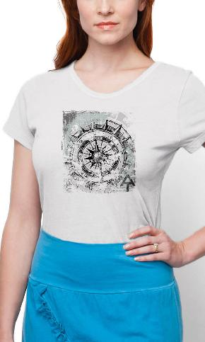AT Compass on Ladies Contour Tee