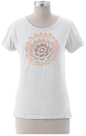 Petals on Ladies Contour Tee