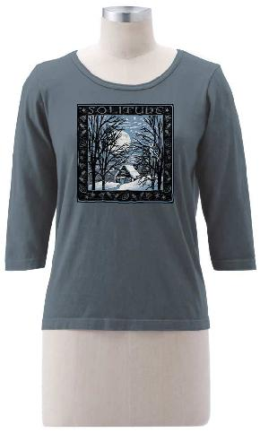 Solitude on 3/4 Sleeve Tee