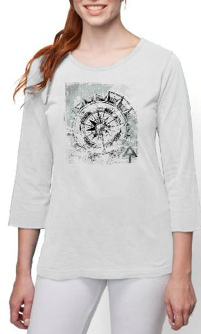 AT Compass on 3/4th Sleeve Ladies Tee