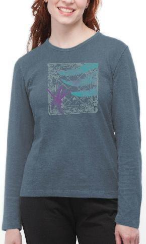 Dragonfly Tile on Ladies Long Sleeve Tee