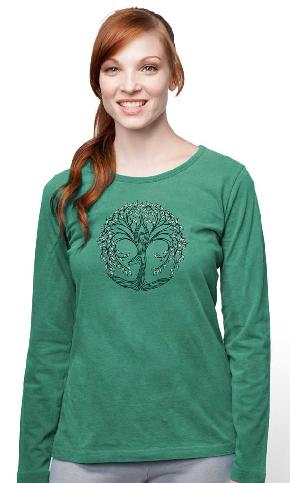 New Tree Pose L/S Scoop Tee