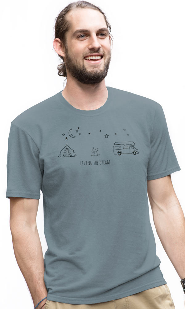 d64bec54a607d earth creations - 640-169 Living the Dream on Organic Tee - 100 ...